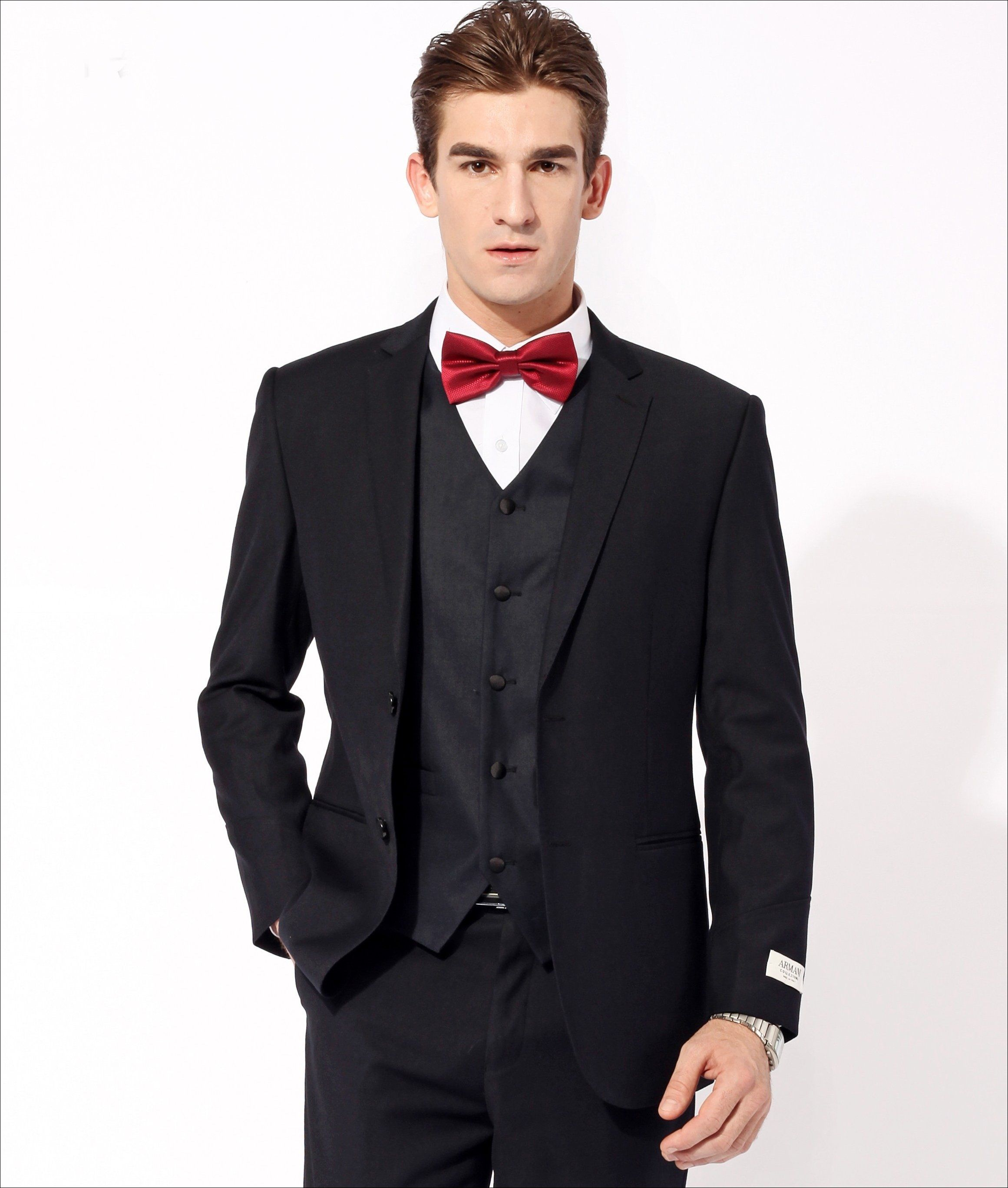 man in black suit with red bow tie - Yahoo Image Search ...