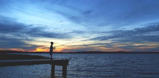 Fishing at Worden's Pond. Photo by Ingrid Mathews.
