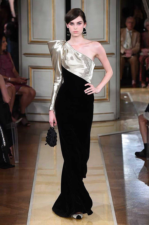 33c7a470c7b Armani Prive Autumn Winter 2018 Couture Collection  oneshoulder  80s