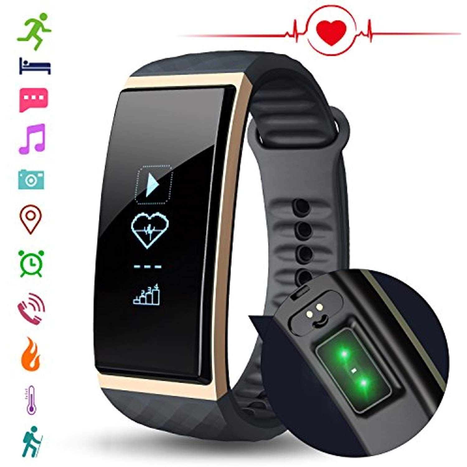 Fitness tracker watch with heart rate monitor cubot s1