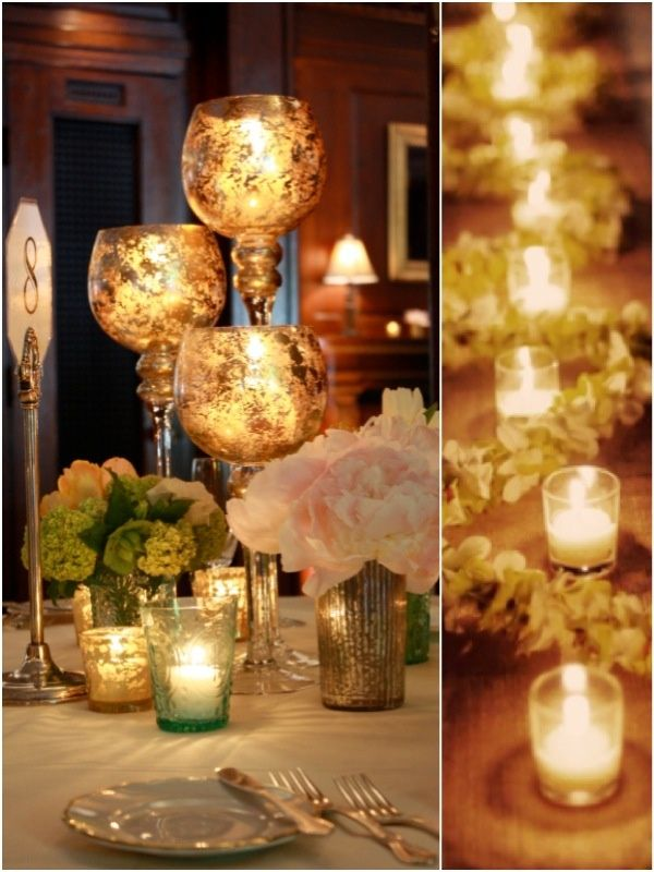 Wedding Ideas: Charming Candles that Make for Romantic Centerpieces