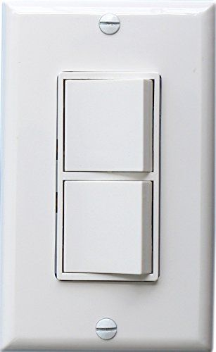 Baomain Duplex Rocker Switch 15 Amp 120 Volt Single Pole Ac Combination Switch Commercial Grade Grounding White W Wall Coverings Plates On Wall Wall Boxes
