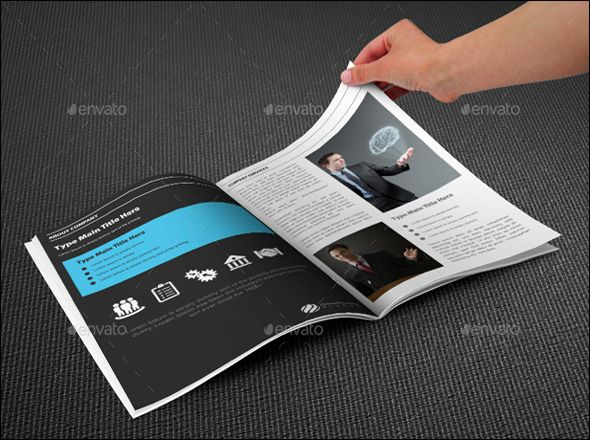 Business Bi Fold Brochure Template PSD Brochure Design Psd Free - Bi fold brochure template indesign
