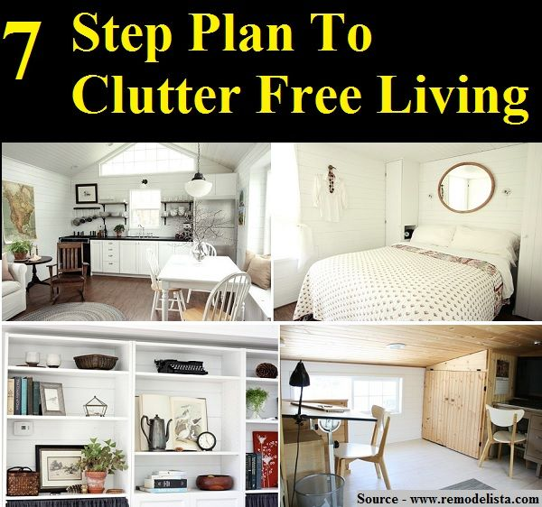 7 Step Plan To Clutter Free Living