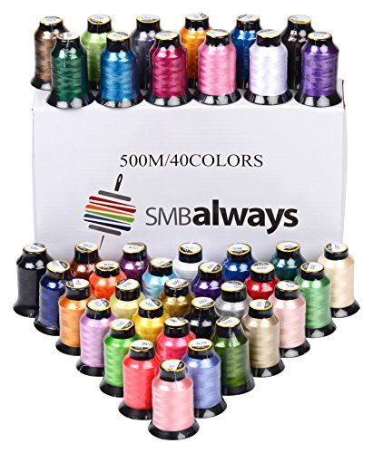 500m each 63 spools Polyester Embroidery Machine Thread Set