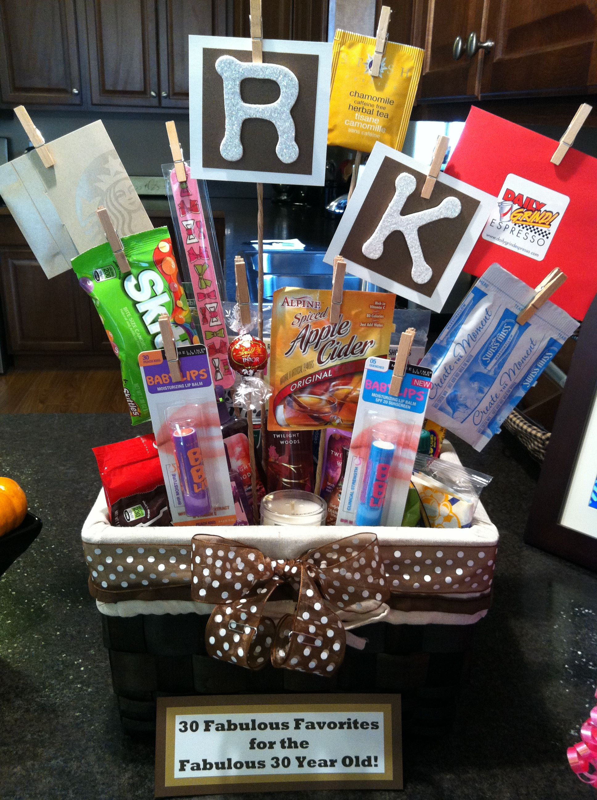 30 Fabulous Favorites For The Year Old Birthday Gift Basket