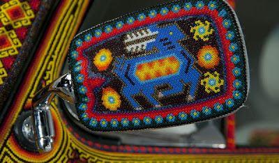 Amazing Huichol Bead Work on Wheels