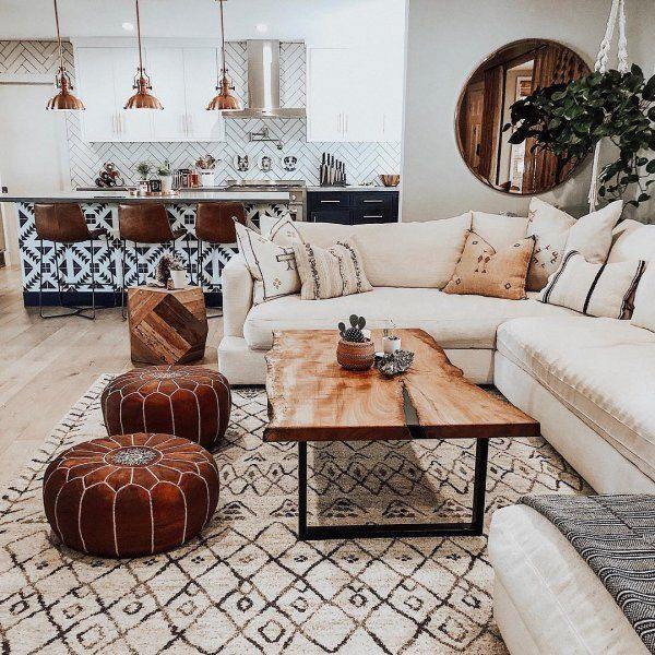 Photo of This Moroccan-inspired rug, beautifully hand-knotted from jute, is …
