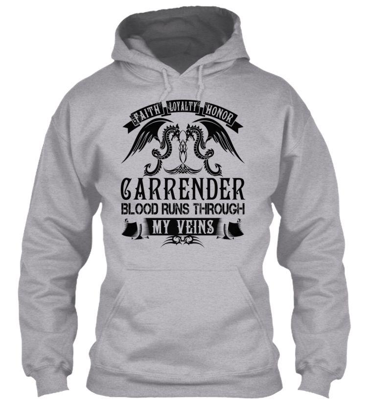 CARRENDER - My Veins Name Shirts #Carrender