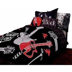 Rock and Roll Bedding | Rock n Roll bedding... my son would luv this | Merrik