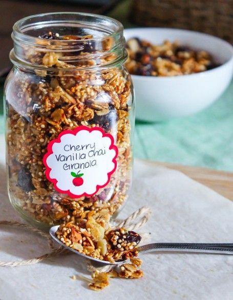 cherry vanilla chai granola - eat spin run repeat: cherry vanilla chai granola - eat spin run repeatCherry Vanilla Chai Granola