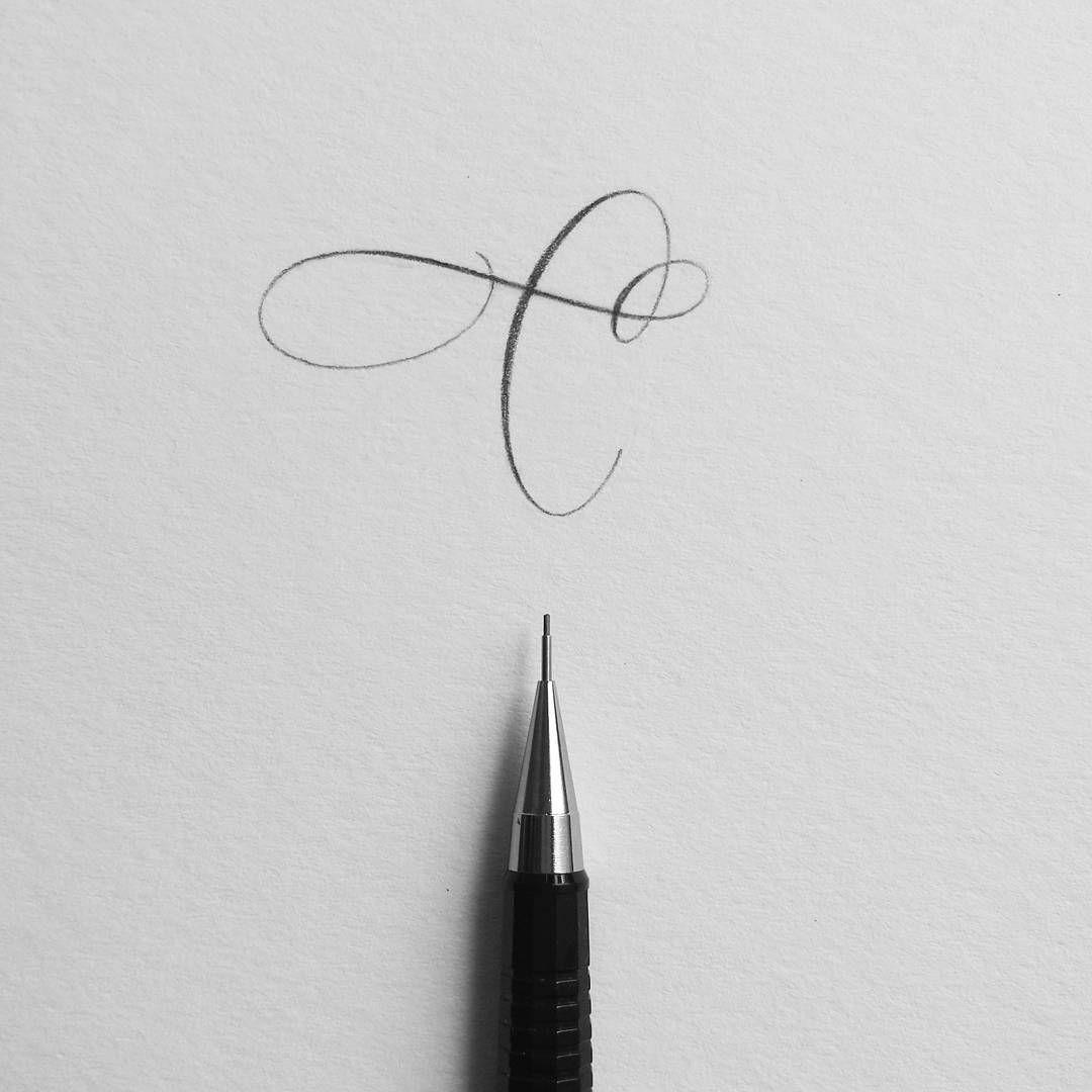 Lettre C Calligraphie Ecriture Calligraphie Lettrage Et