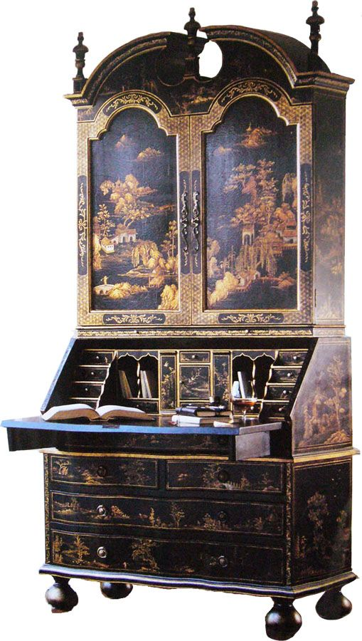 A chinoiserie secretary. Have wanted one of these for a long, long time. - A Chinoiserie Secretary. Have Wanted One Of These For A Long, Long