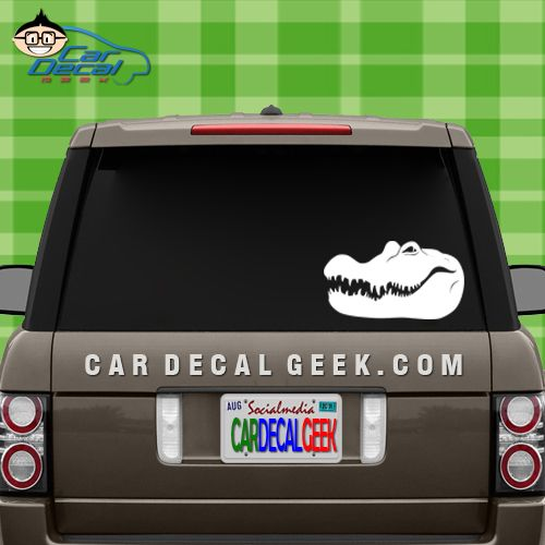 Crocodile Alligator Head Car Window Decal Crocs And Gators Are - How to make car window decals at home