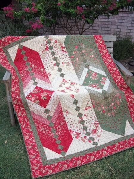 french braid quilt | New Twist - French Braid Quilt by purejo... | Quilting Ideas