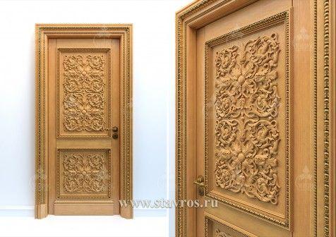Carved door GRD-003 – Stavros