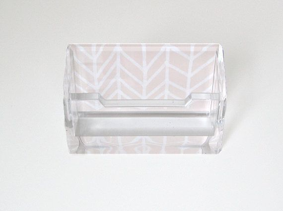 Herringbone lucite business card holder too cute office herringbone lucite business card holder too cute colourmoves Gallery