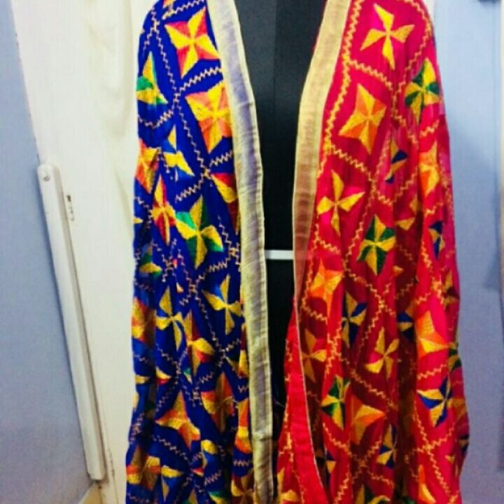 pure hand work phulkari to place order or for product detail plz