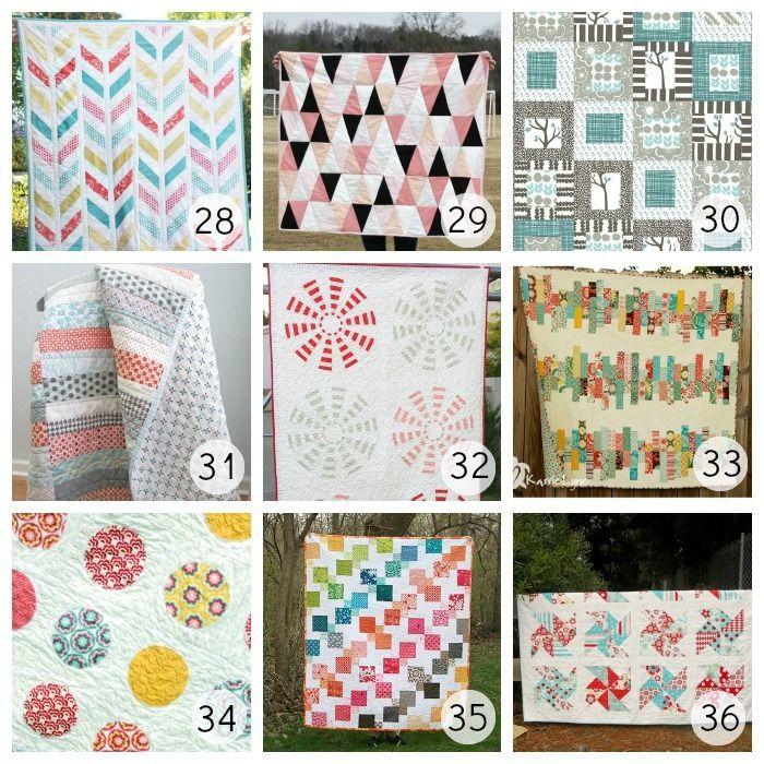 36 Beautiful Free Quilt Patterns | Patchwork Ideen, Patchwork und Nähen