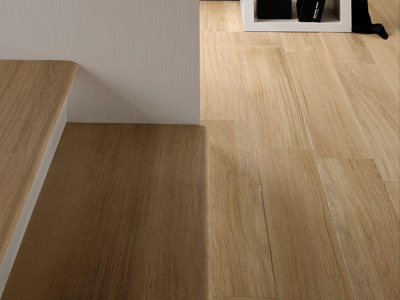 Pavimento de gres porcel nico imitaci n madera doghe by - Escaleras de gres ...