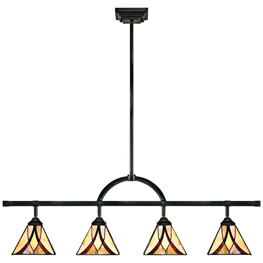 Quoizel Asheville 4-Light Tiffany Art Glass Track Fixture - Style # 8M647  sc 1 st  Pinterest & Quoizel Asheville 4-Light Tiffany Art Glass Track Fixture - Style ...