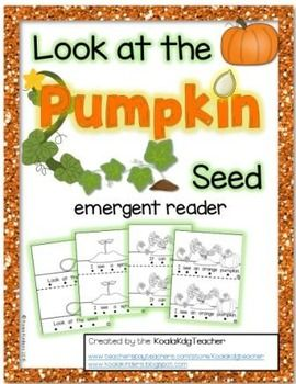 "This emergent reader is a wonderful resource for a study about the life cycle of pumpkins. Use prior to a visit to the pumpkin patch to introduce the life cycle as well as a great review afterwards. ""Look at the Pumpkin Seed"" is a printable emergent text that uses high frequency sight words and vocabulary words.  Includes follow-along touch dots to aid in tracking left to right in this ten page reader."
