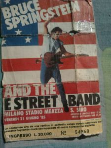 Bruce Springsteen and the E street band. Milan ticket Born in the Usa tour 1985. San Siro stadium #theboss
