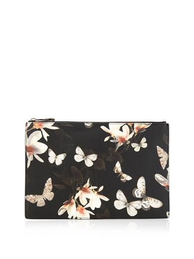 d82090b3d0 Magnolia and butterfly-print medium pouch