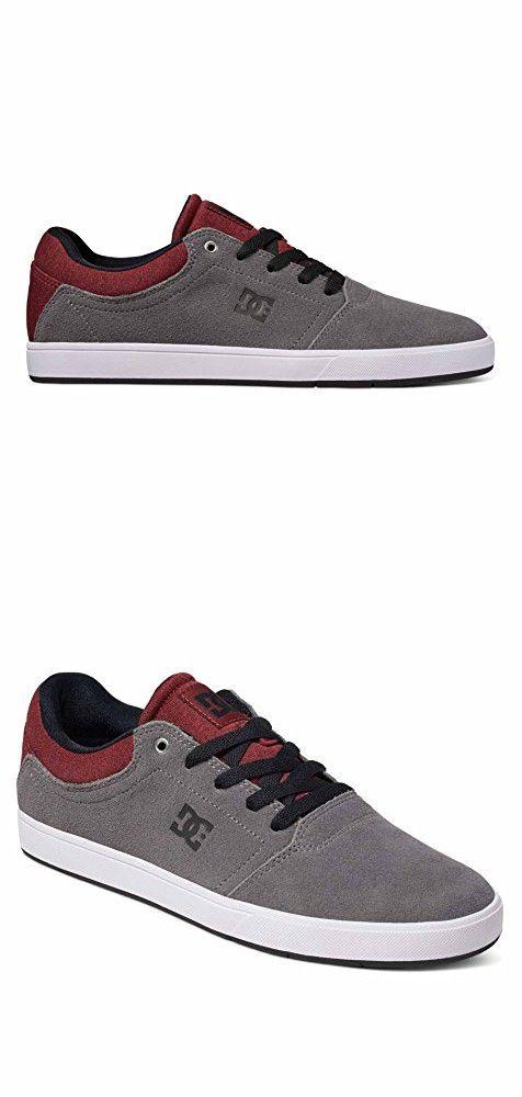 DC Mens Crisis Shoes, Grey/Grey/Red, 9.5D