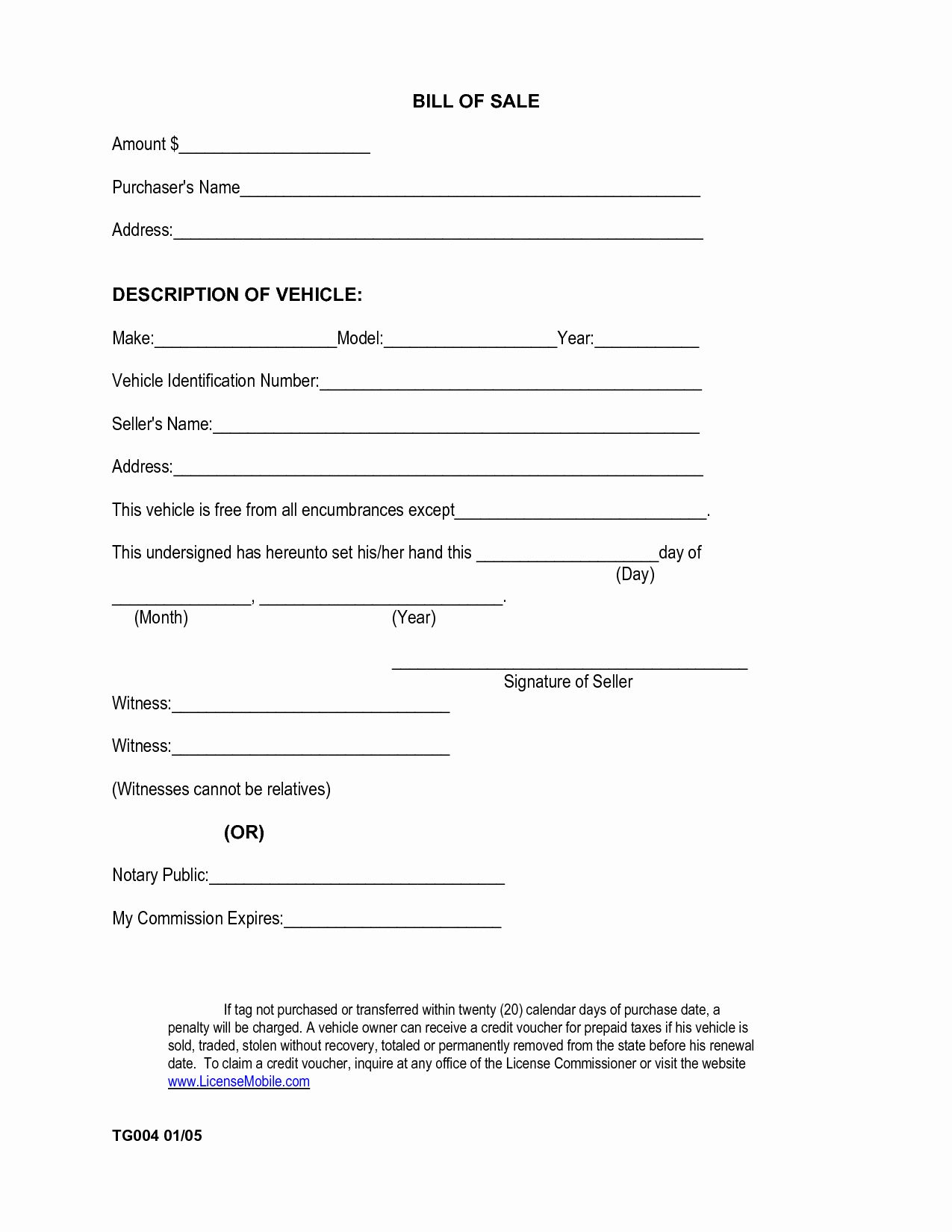 40 Printable Bill Of Sale Form In 2020 Bill Of Sale Template