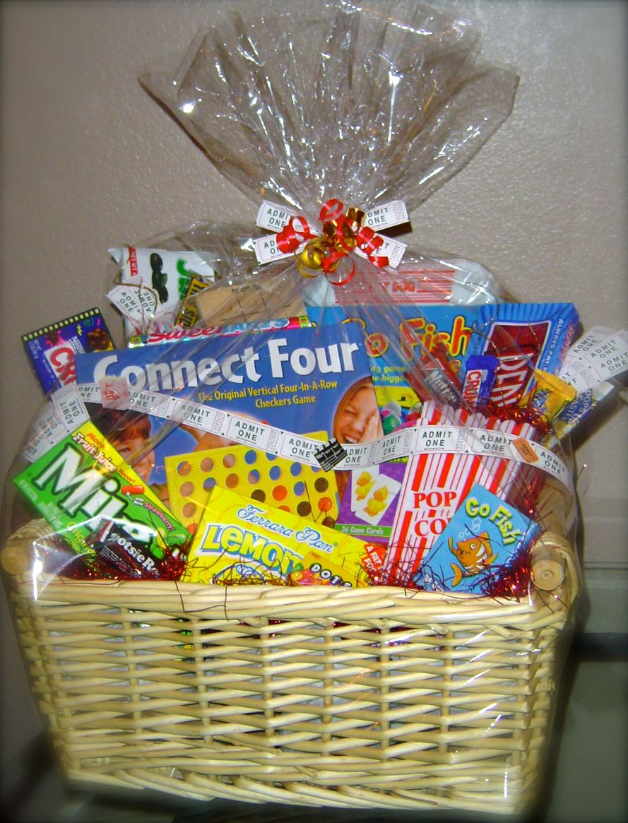 Family game night gift basket audjiefied fun gift for Ideas for homemade christmas gift baskets