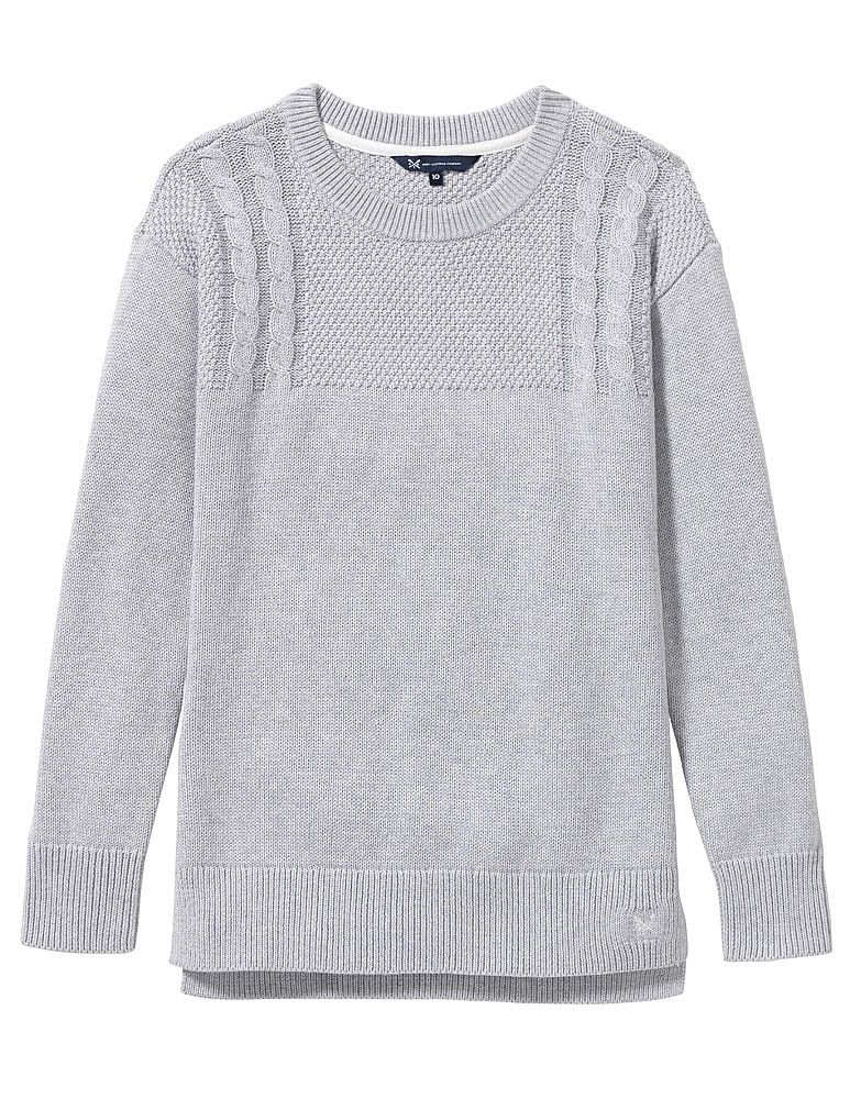 03e47c4036d2 Women s Guernsey Knit in Grey Marl from Crew Clothing
