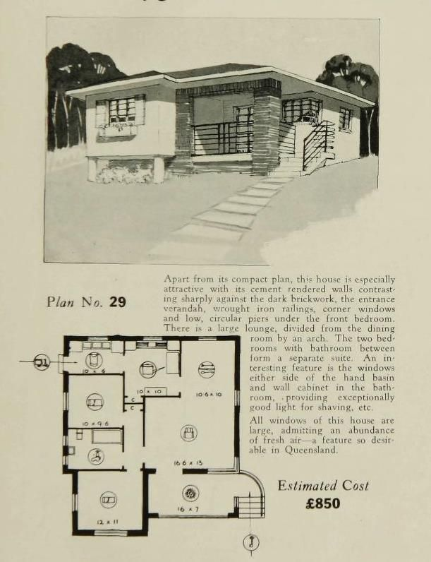 pin by carile elliott 39 s 3rd board on art deco buildings vintage house plans house. Black Bedroom Furniture Sets. Home Design Ideas