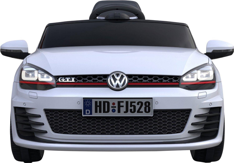 a028e5c50 Coche infantil VW Golf GTI blanco. mando RC 2 motores 12v. Asiento piel,  ruedas…