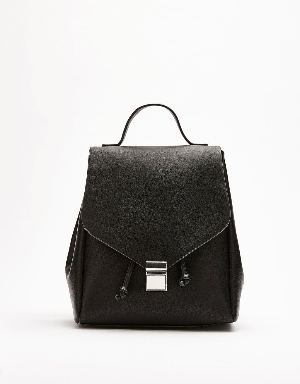 Bershka United Kingdom - Backpack with metal fastener Fasteners 399fa6e427f14