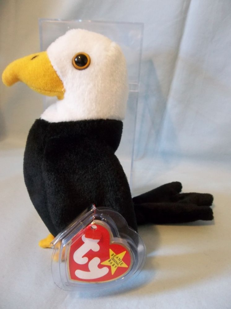 Retired 1996 Ty Beanie Babies Baldy Bold Eagle Rare No  plus Canadian Tag   Ty b037ec0651c0