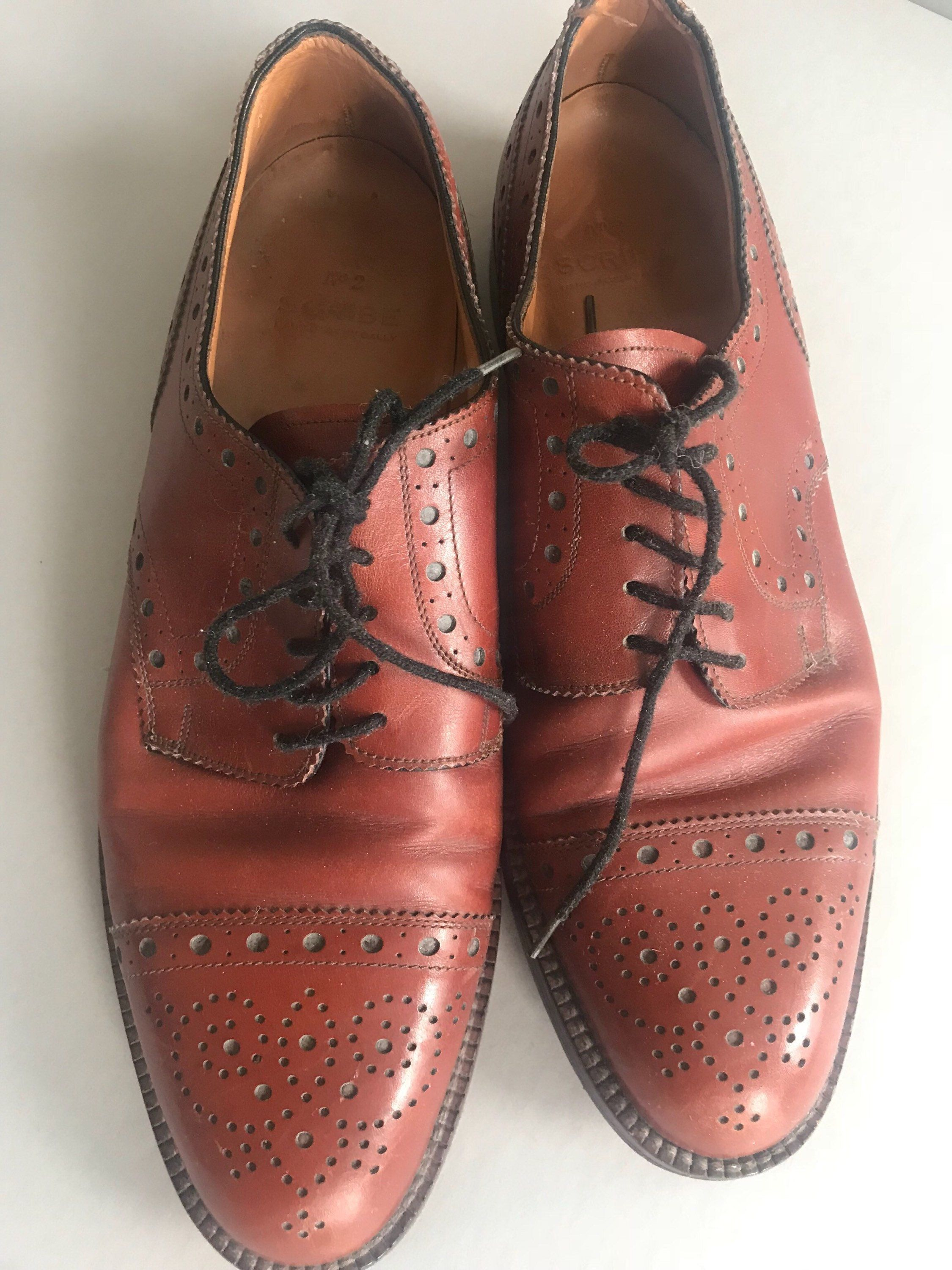 360d1f4c03faa BALLY Oxford Men's Shoes BROGUE Details Brown Reddish Size 8 C Hand ...