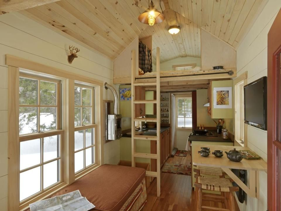 Bon The Interior View Of The Tiny House On Wheels