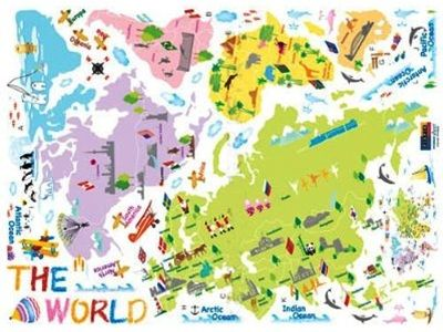 10 best world maps for your childrens room pyp library 10 best world maps for your childrens room gumiabroncs Image collections