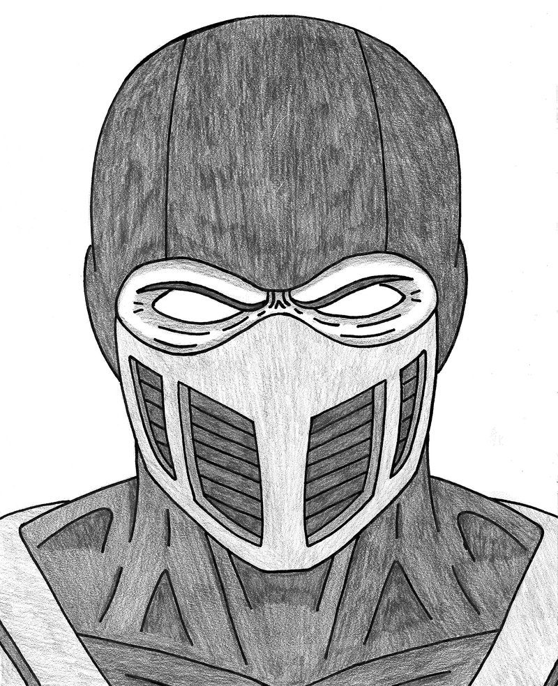 Sub Zero Drawing Drawings Mortal Kombat Scorpion Mortal Kombat
