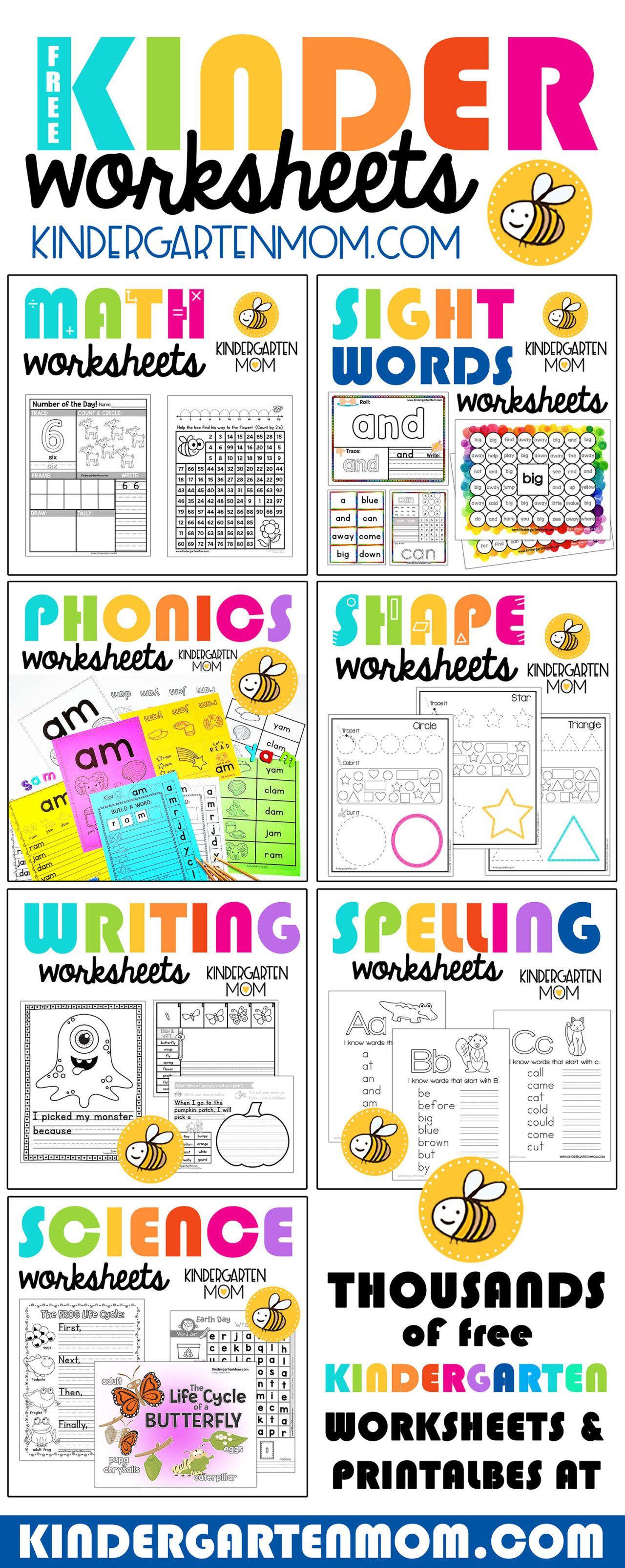 Kindergarten Worksheets Thousands Of Free Kindergarten Worksheets And Kindergarten Worksheets Kindergarten Worksheets Sight Words Free Kindergarten Worksheets [ 3205 x 1280 Pixel ]