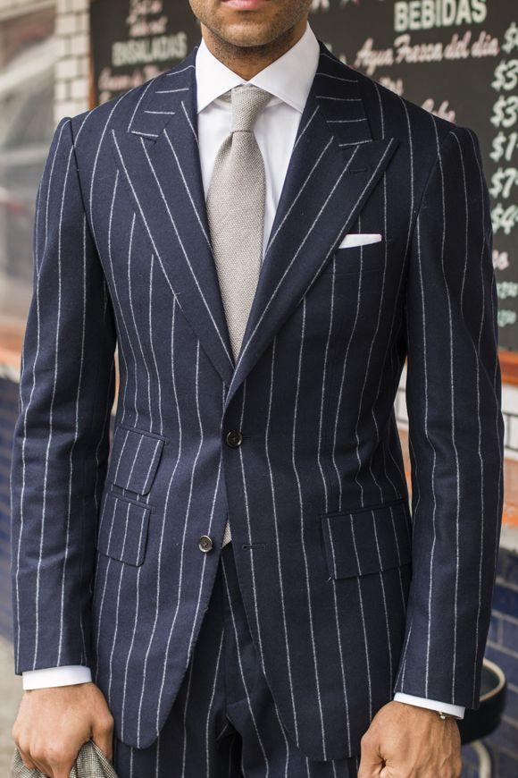 A bold pinstripe suit is hard to pull off, but damn if it doesn't look good when done well. I still hate peak lapels, though.