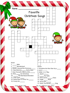 Soft image with regard to holiday crossword puzzles printable