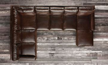 Show Details For Mayfair Deluxe Leather Sectional Sofa