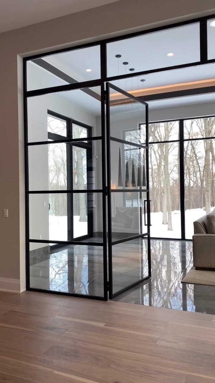 Interior steel doors
