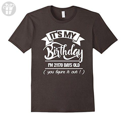 Mens 58th Birthday Gift Ideas. Funny T-Shirt For Men/Women. Small Asphalt - Birthday shirts (*Amazon Partner-Link)