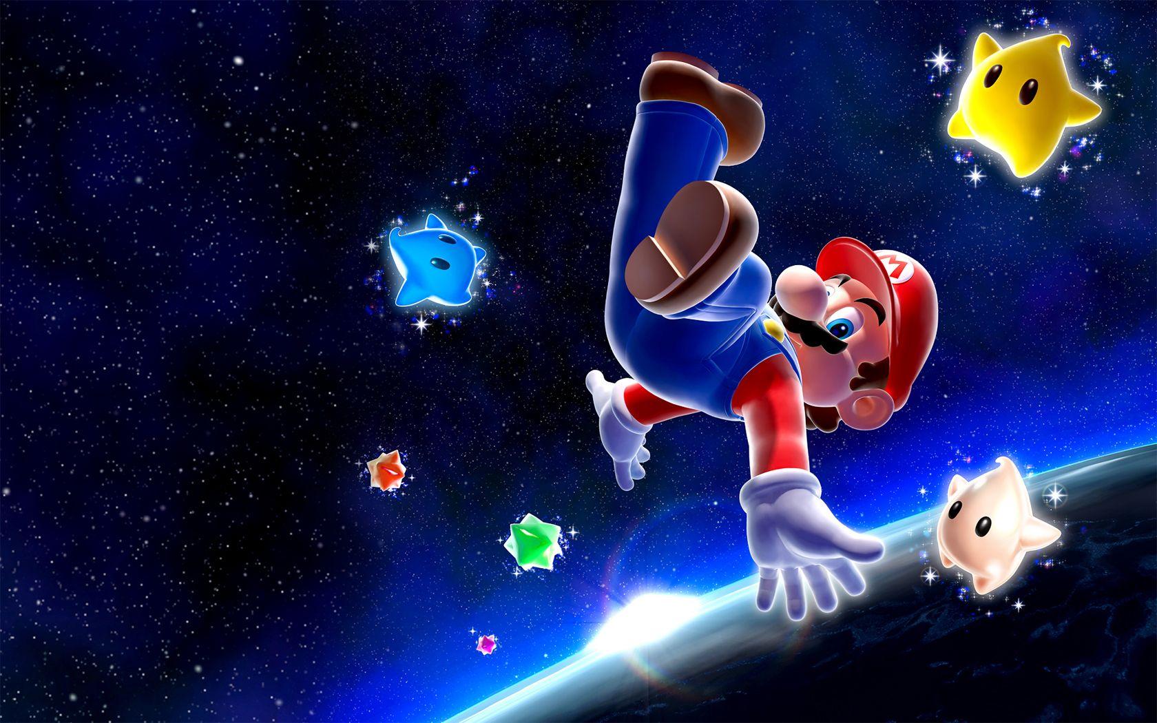 Nintendo Games Galaxy Mario Super Mario Wii Wallpaper 50420 Wallbase Cc Super Mario Galaxy Super Mario Mario