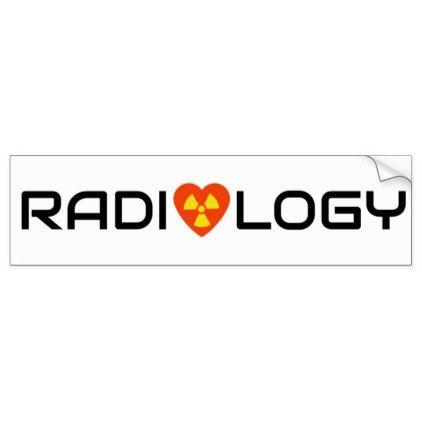 Radiology love bumper sticker craft supplies diy custom design supply special