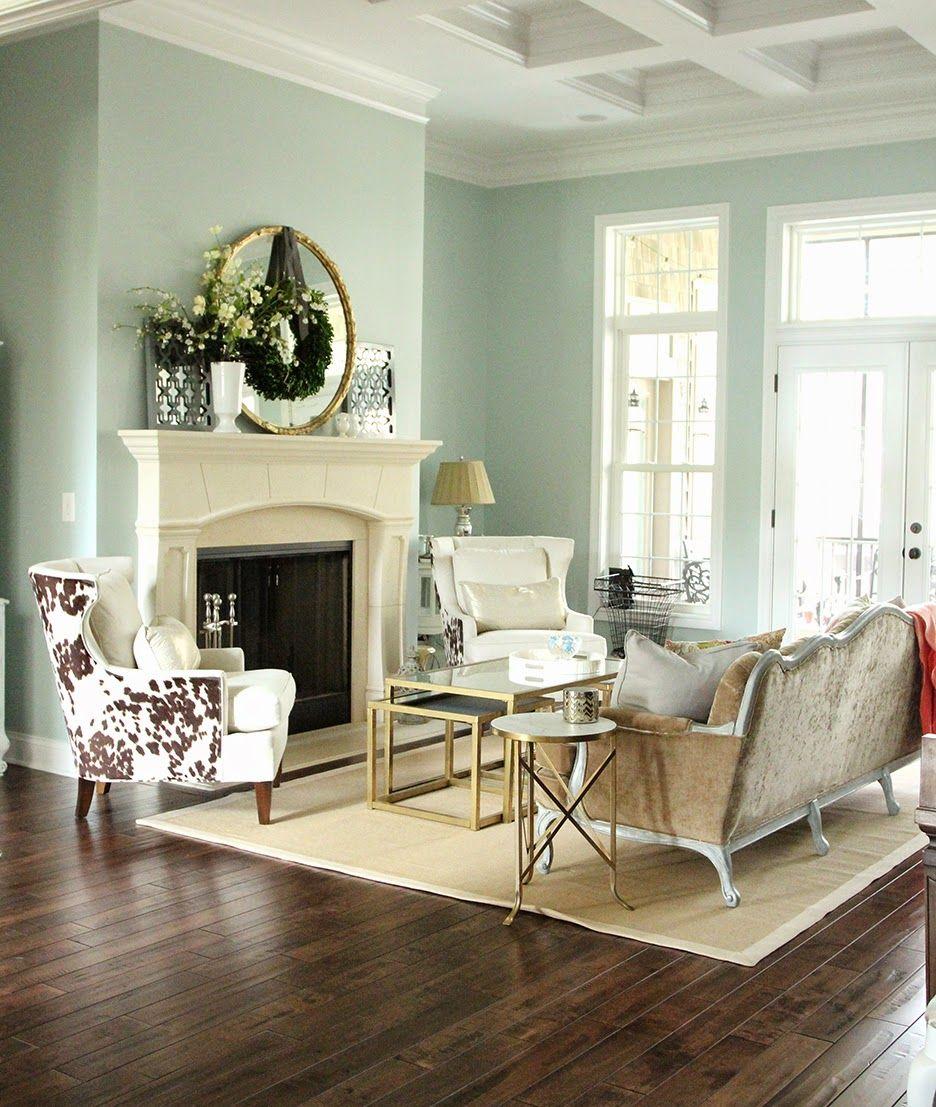 Sherwin Williams Living Room Alluring Spring Decor In Formal Living Room Sherwin Williams Rainwashed Design Inspiration