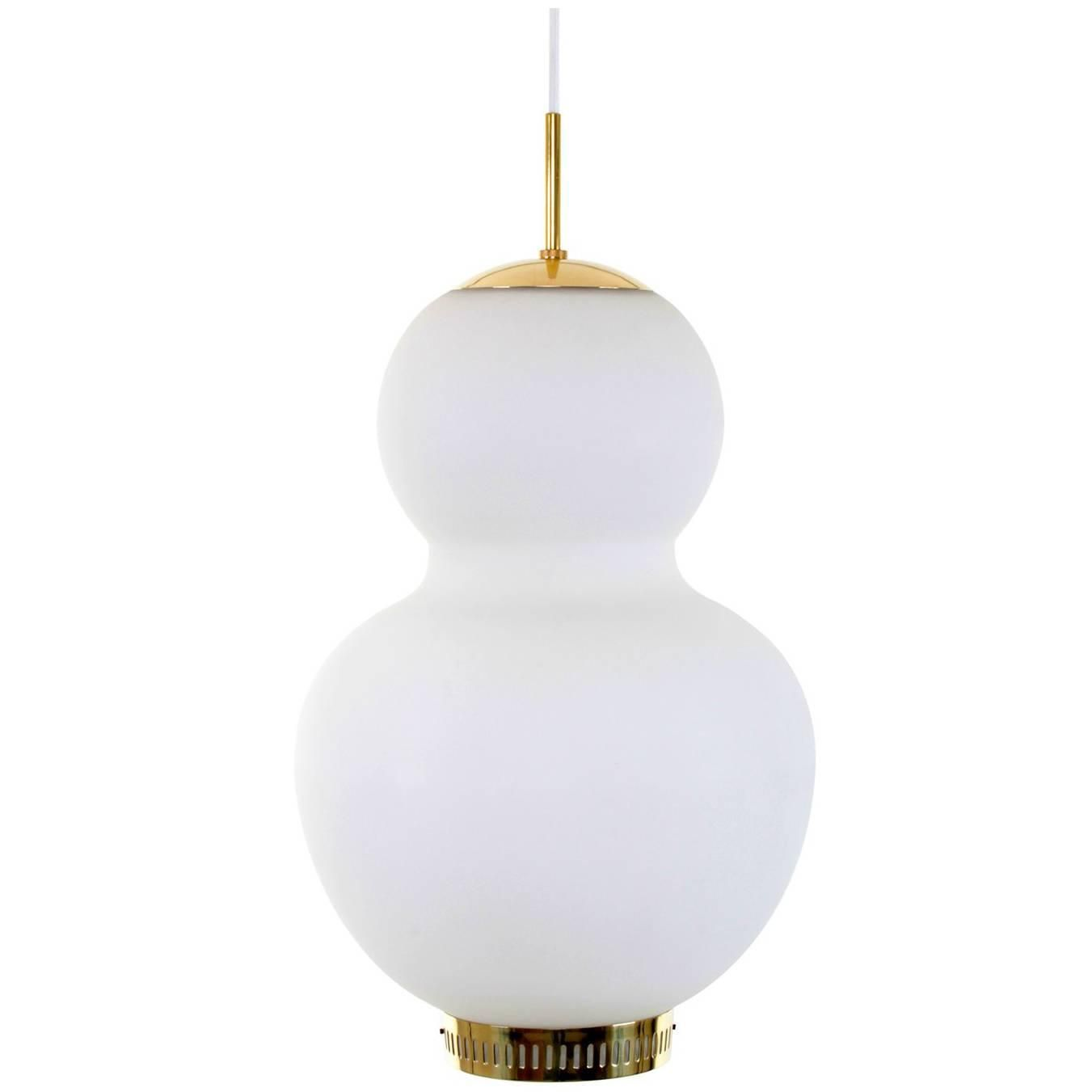 Peanut By Bent Karlby 1946 Lyfa Very Attractive Large Opal And Brass Pendant Vintage Chandelier Glass Ceiling Lights Chandelier Pendant Lights